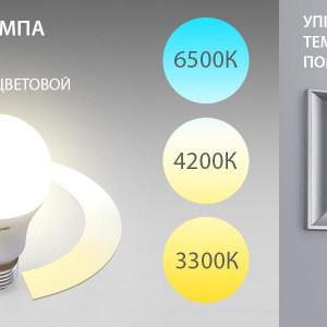 Новинка! Светодиодная лампа с функцией изменения цветовой температуры